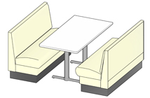 Plain Back Quick Ship Upholstered Restaurant Booths