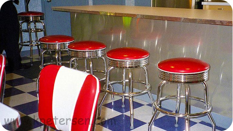 Chrome Retro Counter Height Stools Installation