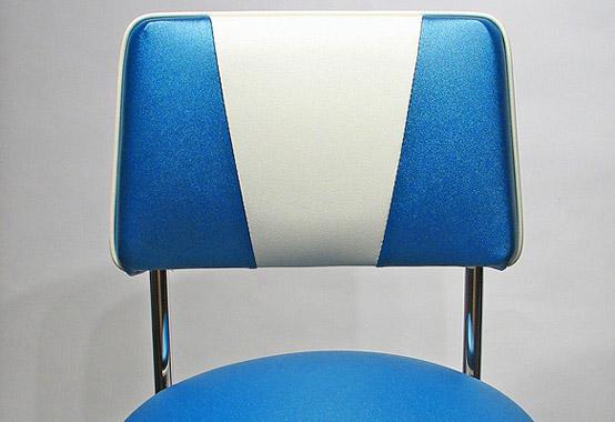 Chrome Rim Chrome Bar Stool With Upholstered Backrest
