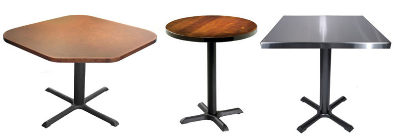 Beau Budget Style Steel And Cast Iron Restaurant Table Bases