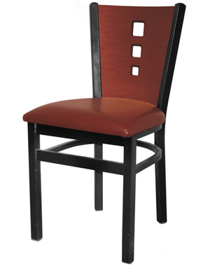 Economy Steel 3 Square Revstaurant Chair