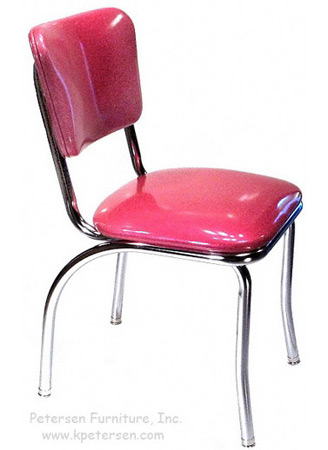Diner Restaurant Chair Hot Pink Glitter Vinyl