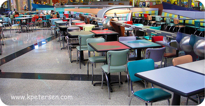 Chrome Diner Chair Restaurant Installation