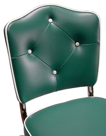 Cathedral Back Diner Chair With Diamond Tufting