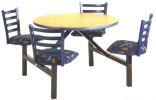 Steel Back Cafeteria Cluster Seating Unit