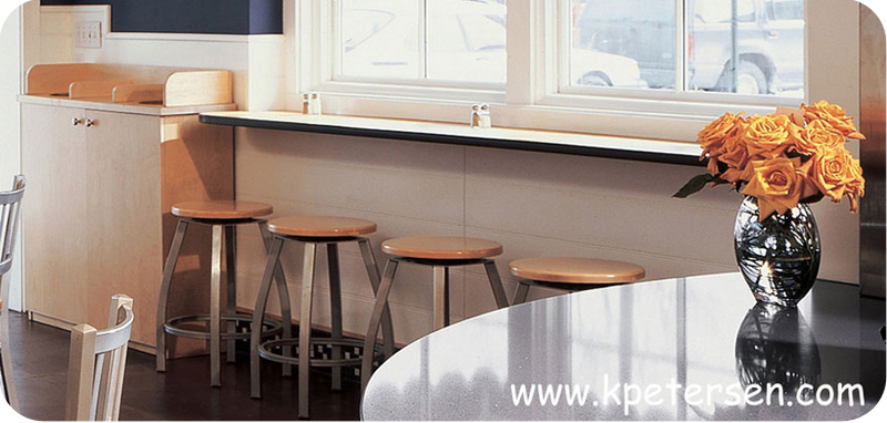 Backless Bar Stool Oak Seat Counter Height Installation