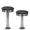 Budget Chrome Bolt Down Soda Fountain Stool