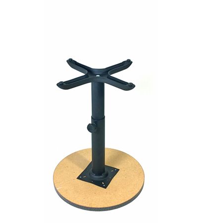 Adjustable Height Table Base Assembly Dining Height Inverted For Operation  ...