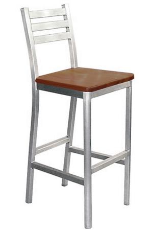 Aluminum Bar Stool Wood Seat ...  sc 1 st  Kurt Petersen Furniture & Alumaladder Aluminum Barstool Wood Seat islam-shia.org