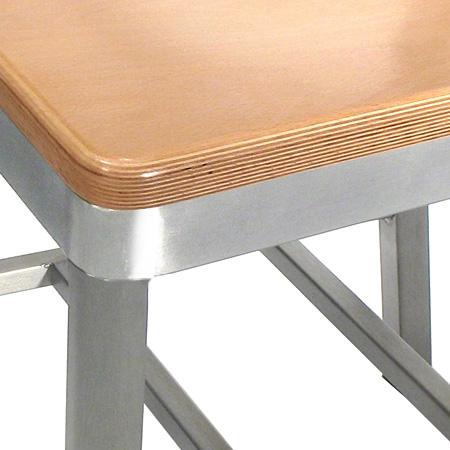 Aluminum Restaurant Chair Beech Veneer Seat Detail ...
