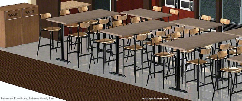 Bar Height End Bases For Rectangular Table Tops