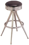 Retro Style Chrome Bar Stool Made In USA