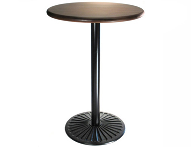 Ornate Cast Iron Sunbeam Radial Design Bar Table Base