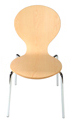 Bent Plywood and Chrome Restaurant Chair KV227