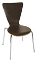 Bent Plywood and Chrome Restaurant Chair KV229