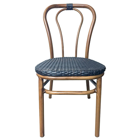 Outdoor Aluminum Bentwood Chair Front View