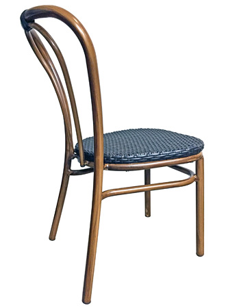 Outdoor Aluminum Bentwood Chair Side View