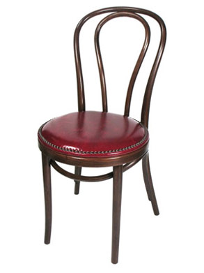 Bentwood Chair Hairpin Style Nail Trimmed Upholstered Seat