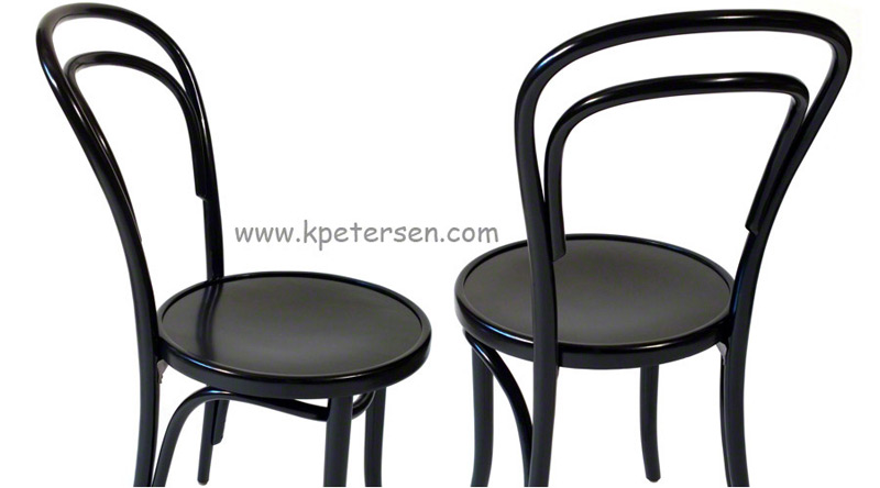 14 thonet bentwood chair black lacquer details