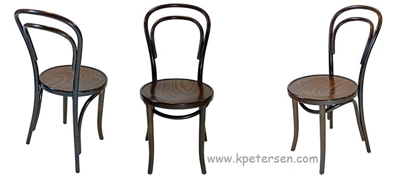 14 thonet bentwood chair walnut stain detail photos