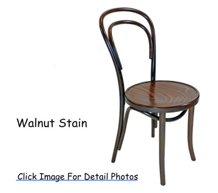 14 thonet bentwood chair walnut stain