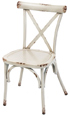 Outdoor Aluminum X Back Bentwood Style Chairs Ivory