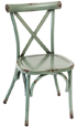 Outdoor Aluminum X Back Bentwood Style Chairs Teal