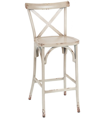 Fine Outdoor Bentwood French X Back Style Aluminum Bar Stool Andrewgaddart Wooden Chair Designs For Living Room Andrewgaddartcom