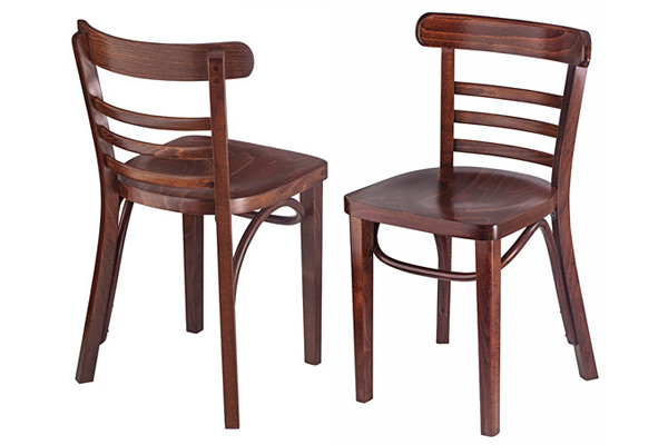 Bentwood Ladderback Restaurant Chair Front View