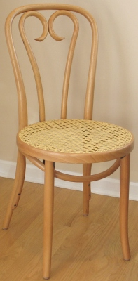 ... Candy Cane Back Bentwood Chair With Woven Cane Seat Natural Finish  Detail