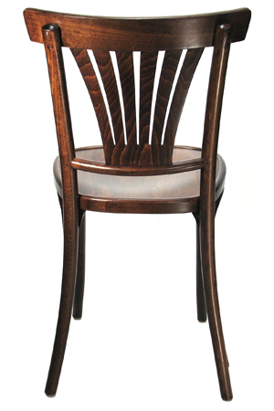 Bentwood Fan Back Cafe Side Chair Rear View