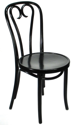Chair Candy Cane Style Black Finish