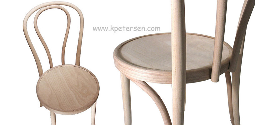 Bentwood Chair Hairpin Style Raw Unfinished Detail