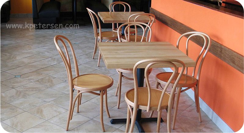 Bentwood Chairs Hairpin Back Natural Finish Restaurant Installation