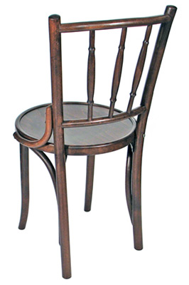 spindleback bentwood chair rear view