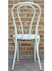 Bentwood Chair Hairpin Style White Lacquer View 4