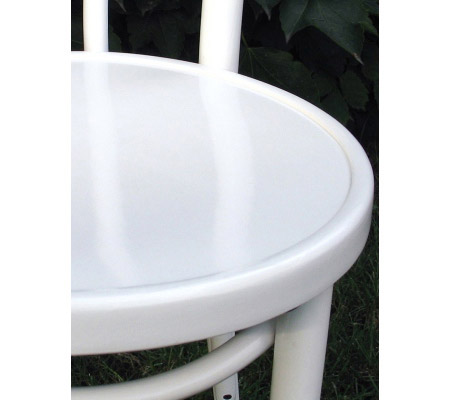 Bentwood Chair Hairpin Style White Lacquer Detail