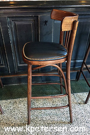 Bistro Bar Stool Steam Bent Wood