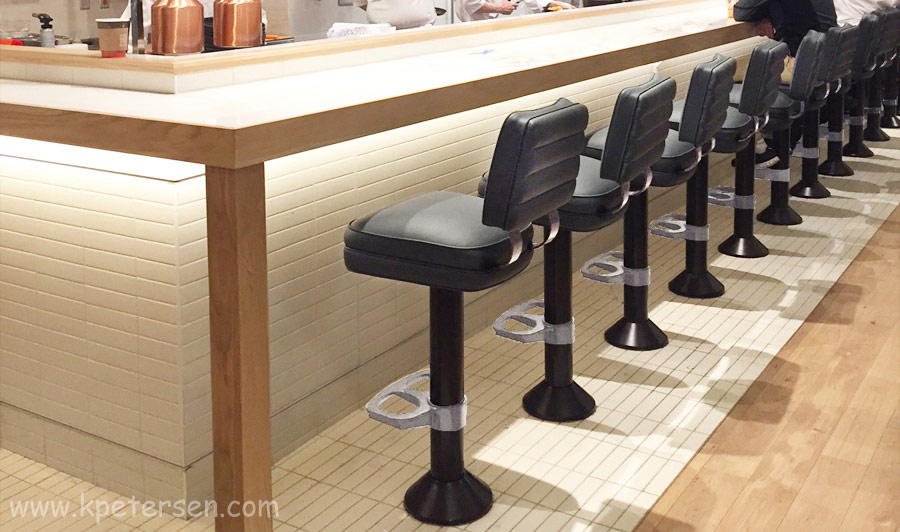 Floor Mounted Soda Fountain Counter Stools