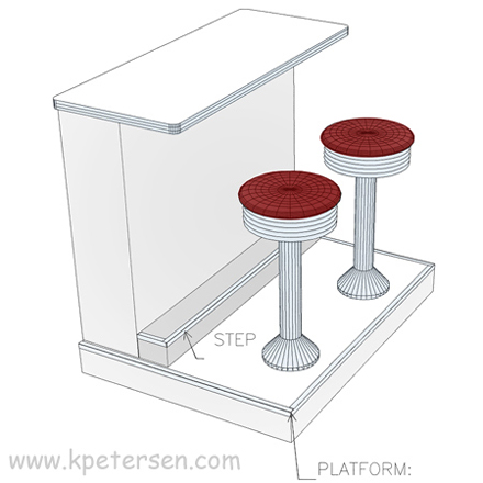 Budget Bolt Down Soda Fountain Counter Stool Layout