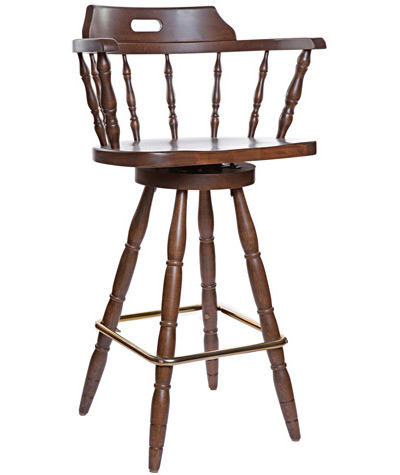Early American Colonial Style Wood Captain S Bar Chair
