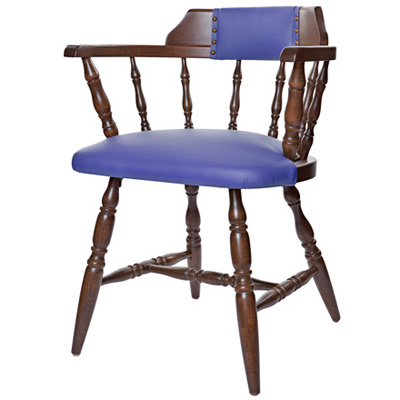 Charmant ... Colonial Style Wood Restaurant Dining Room Captains Armchair  Upholstered Seat And Back
