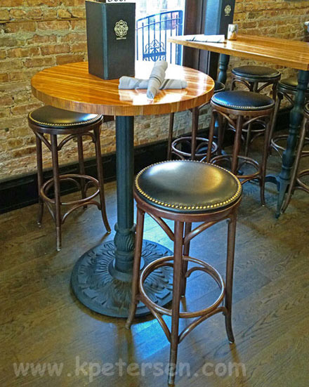 Ordinaire ... Ornate Round Cast Iron Bar Table Base Installation