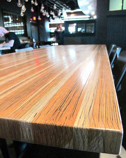 Solid Cherry Restaurant Table Cherry Wheat Restaurant Installation ...