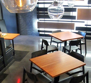 Urban Industrial Cherry Butcher Block Restaurant Tables - Custom restaurant table tops