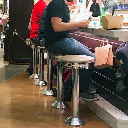 Floor Mounted Chrome Bar Stools