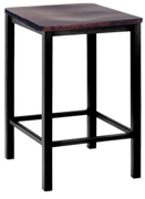 Backless Square Wood Seat Counter Height Barstool Closeout