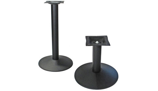 custom height round cast iron restaurant table bases