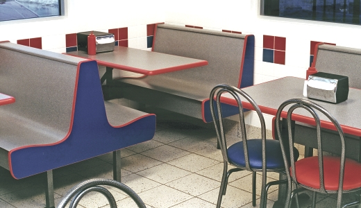 ColorCourt Series Laminated Plastic Restaurant Booth