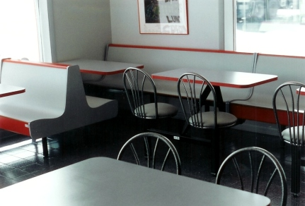Plymold Color Court Restaurant Booth Installation